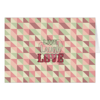 Live Laugh Love Country Pink Card
