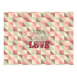 Live Laugh Love Country Pink Postcard
