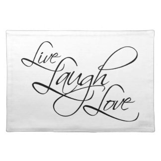 Live  Laugh  Love Customize Product Placemat