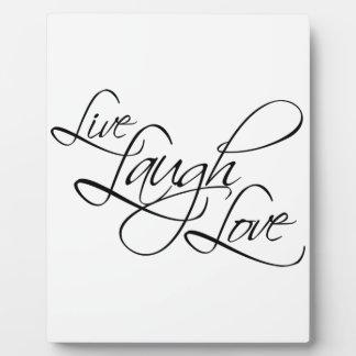 Live  Laugh  Love Customize Product Plaque