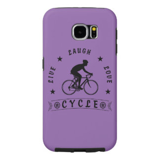 Live Laugh Love Cycle (blk text) Samsung Galaxy S6 Case