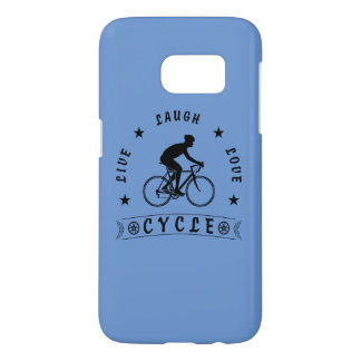 Live Laugh Love Cycle (blk text) Samsung Galaxy S7 Case