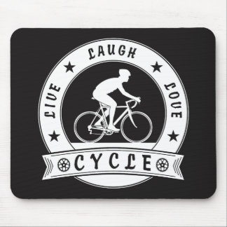 Live Laugh Love Cycle (wht circle) Mouse Pad