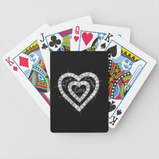 Live Laugh Love Diamond Hearts Playing Cards