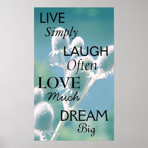 Live Laugh Love Dream Poster
