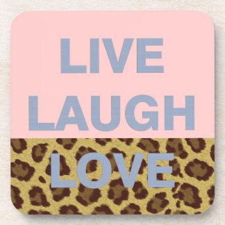 Live Laugh Love Drink Coaster