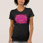 Live Laugh Love Encouraging Words Hot Pink Fuchsia T-shirt