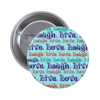 Live Laugh Love Encouraging Words Teal Blue Pins