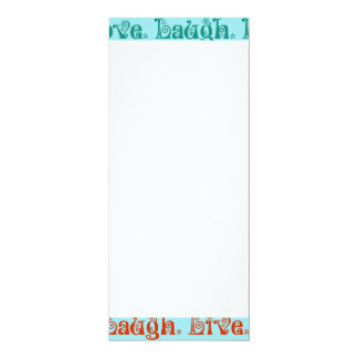 Live Laugh Love Encouraging Words Teal Blue Card