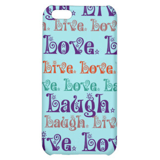 Live Laugh Love Encouraging Words Teal Blue Case For iPhone 5C