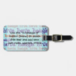 Live Laugh Love Encouraging Words Teal Blue Bag Tags