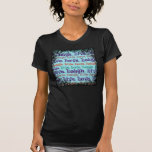 Live Laugh Love Encouraging Words Teal Blue Tee Shirts