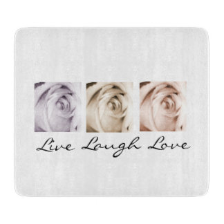 Live,Laugh,Love floral Cutting Board