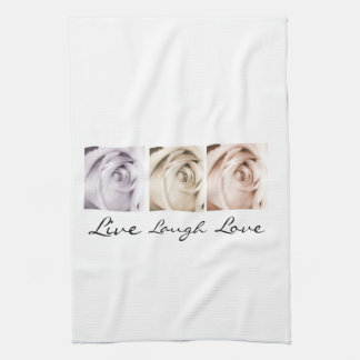 live,laugh,love floral towel