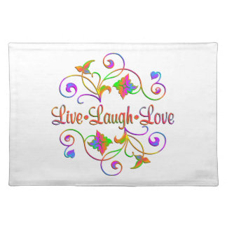 Live Laugh Love Flourish Placemat