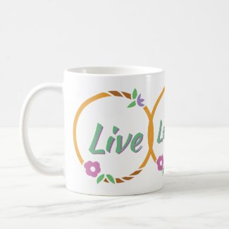 Live Laugh Love Flower Ring Coffee Mug