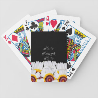 Live Laugh Love Flowers Bicycle Playing Cards