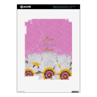 Live Laugh Love Flowers Decal For iPad 3