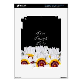 Live Laugh Love Flowers iPad 3 Skin