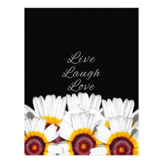 Live Laugh Love Flowers Letterhead