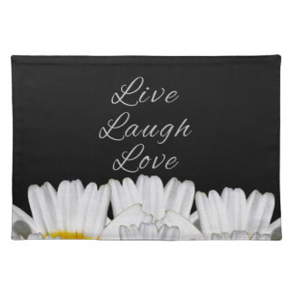 Live Laugh Love Flowers Placemat