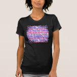 Live Laugh Love Girly Pink Zebra Stripes Print Tee Shirt