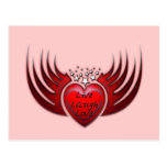LIVE LAUGH LOVE HEART & WINGS POSTCARDS