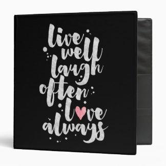 Live Laugh Love - Inspirational Binder