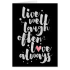Live Laugh Love - Inspirational Greeting Card