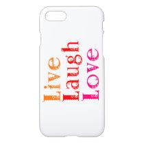 live, laugh love iPhone 8/7 case