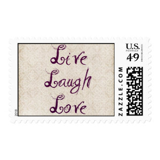 Live Laugh Love Ivory Lace Postage Stamp