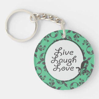 Live Laugh Love Double-Sided Round Acrylic Keychain
