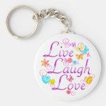 Live Laugh Love Keychain