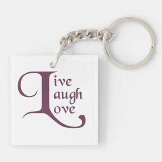 Live, Laugh, Love Keychain