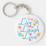 Live, Laugh, Love Keychains