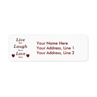 Live Laugh Love Label
