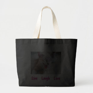 """Live  Laugh  Love"" Large Tote Canvas Bags"