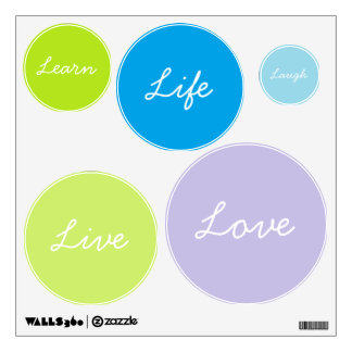 Live Laugh Love Learn Life Circle Wall Art Wall Sticker