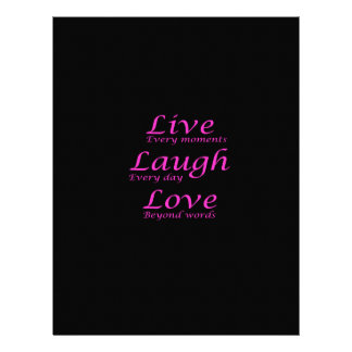 Live, Laugh, Love Letterhead