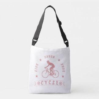 Live Laugh Love Meditate Female Text (pink) Crossbody Bag