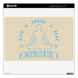 Live Laugh Love Meditate Male Text (neon) Skin For The MacBook Air