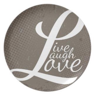 LIVE LAUGH LOVE MELAMINE PLATE