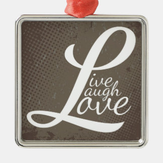 LIVE LAUGH LOVE METAL ORNAMENT