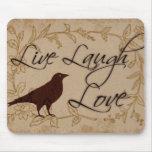 Live Laugh Love Mousepads