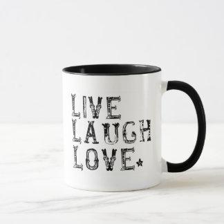 live, laugh, love mug