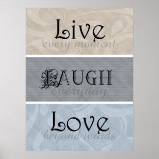 Live Laugh Love Neutrals Posters