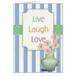 Live Laugh Love Notecard