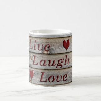 Live Laugh Love on the side of a barn Coffee Mug