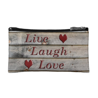 Live Laugh Love on the side of a barn Cosmetic Bag