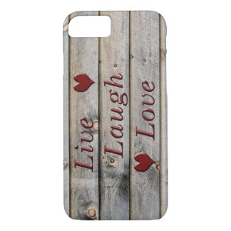 Live Laugh Love on the side of a barn iPhone 7 Case